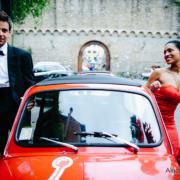 sposi in cinquecento rossa