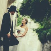 wedding couple in a nice photo