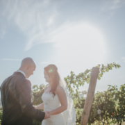 the wedding couple in the vineyard in the heart of tuscan chianti