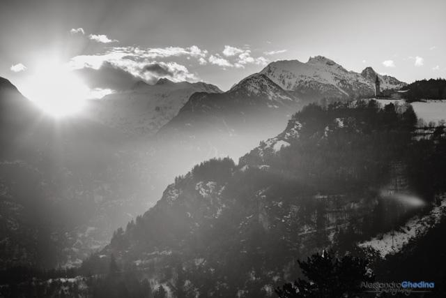 sunrise in Val d'Aosta wedding destination