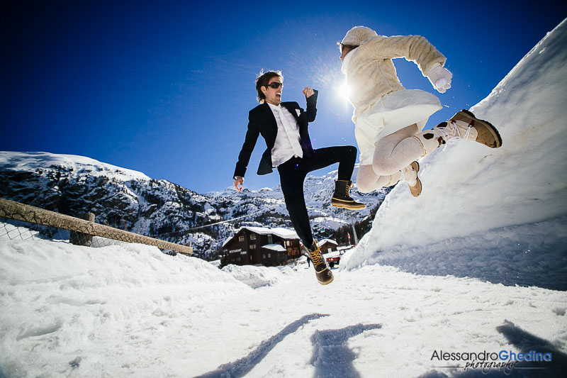 WEDDING PHOTOGRAPHER IN SWITZERLAND| Wedding Photography on the Snow in Zermatt