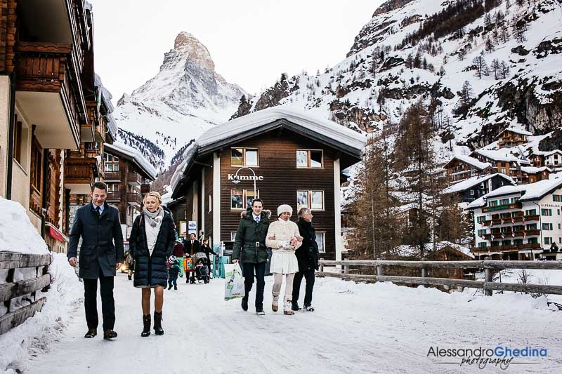 snow white wedding in Switzerland