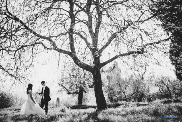 coppia di sposi a Pienza