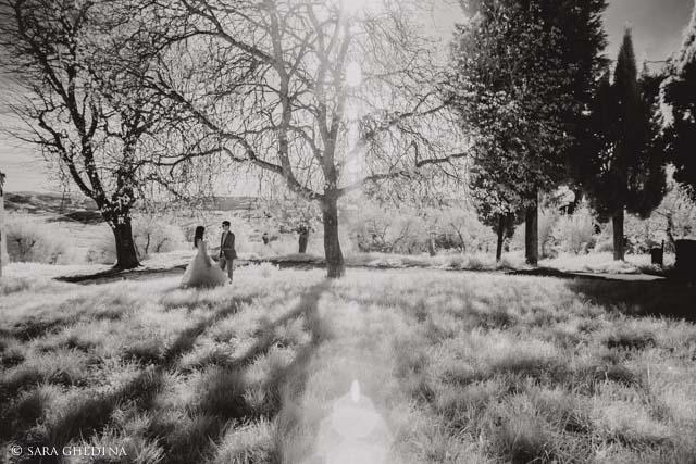 fotografia all'infrarosso matrimonio a Pienza