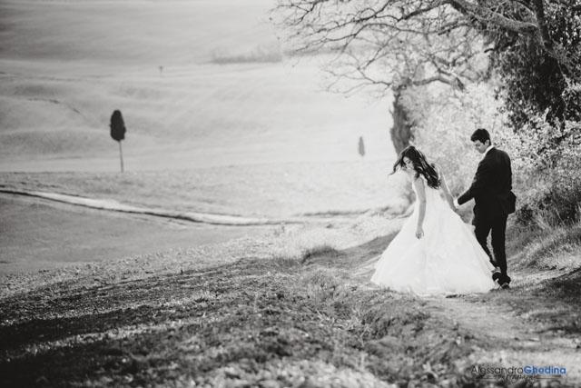 paesaggio bellissimo della Val d'Orcio fotografi o di matrimonio