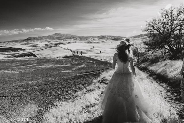 fotografia di matrimonio all'infrarosso