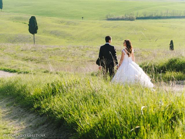 fotografo di matrimonio a Pienza