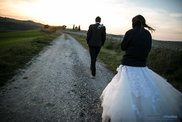 fotografo di matrimonio Val d'Orcia