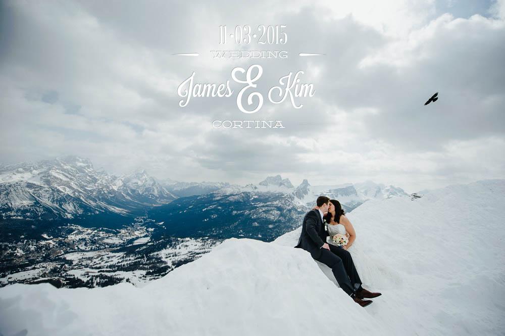 matrimonio invernale a cortina d'ampezzo - bellissimo panorama