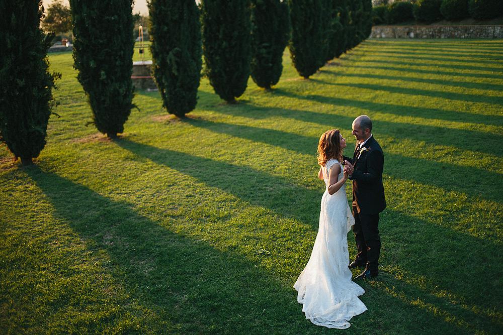 matrimonio nelle campagne della toscana