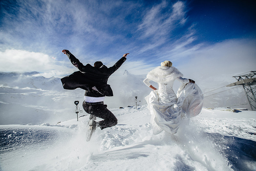 WEDDING ON THE SNOW IN ZERMATT SWITZERLAND