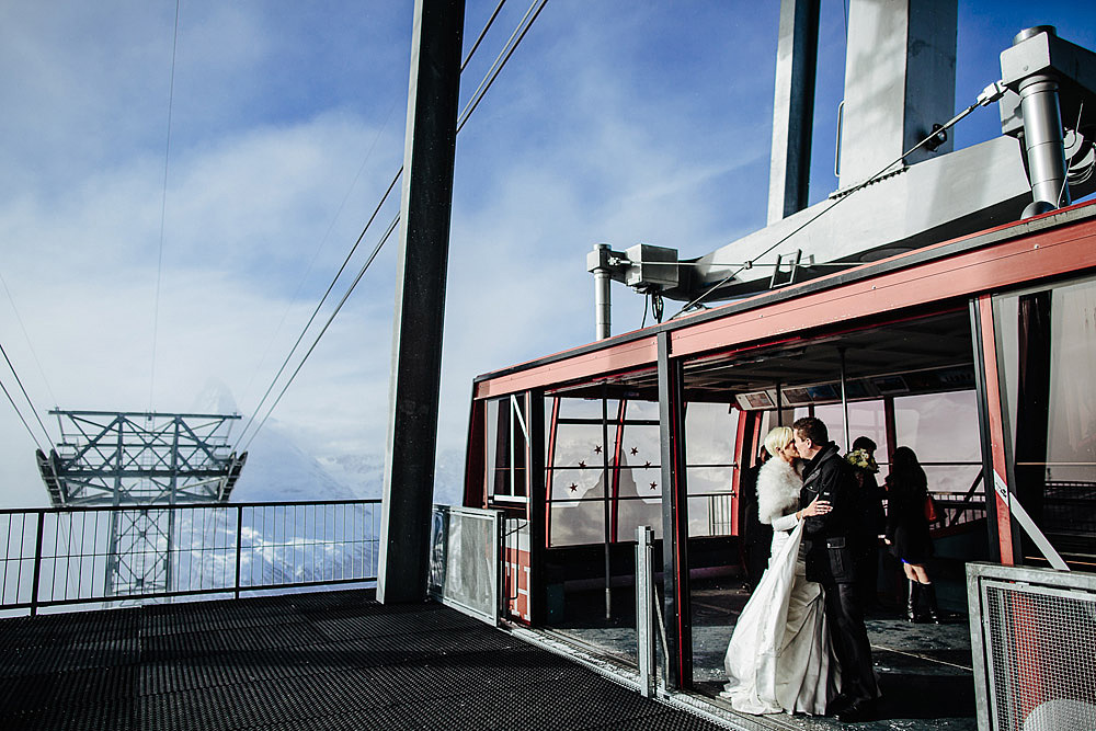 WEDDING ON THE SNOW IN ZERMATT SWITZERLAND