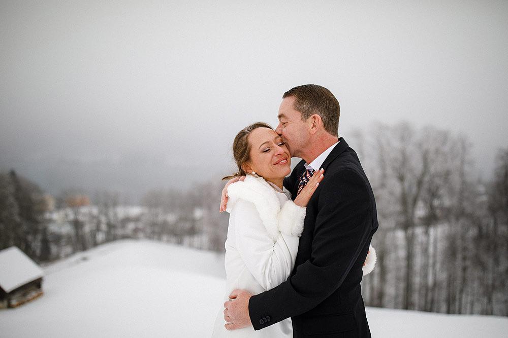 SVIZZERA ROMANTICO MATRIMONIO INNEVATO A LUCERNA
