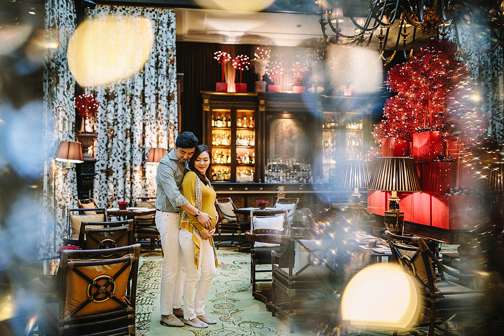 COUPLE PORTRAIT AT FOUR SEASONS HOTEL