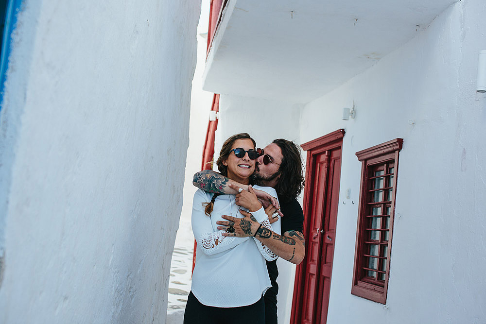 COUPLE PORTRAIT MYKONOS GREECE ALEXANDROS & LIANA