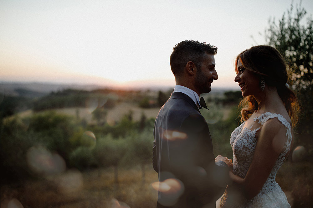 Wedding in Val d'Orcia in a romantic Tuscan village