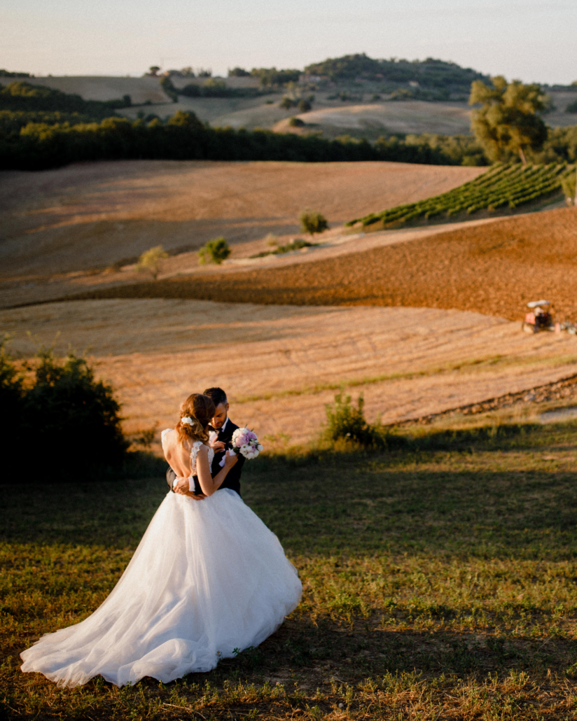 wedding ceremony and reception at Abbadia Sicille Italian countryside in Tuscany