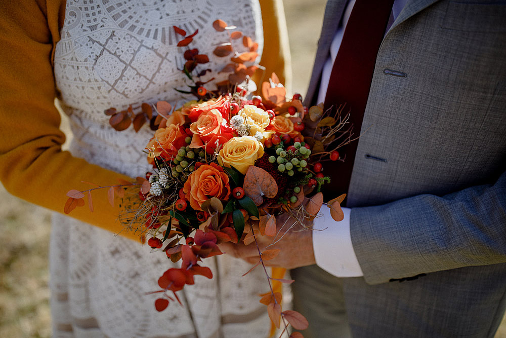 Matrimonio in Autunno Rustico e Vintage al Passo Giau :: Luxury wedding photography - 10