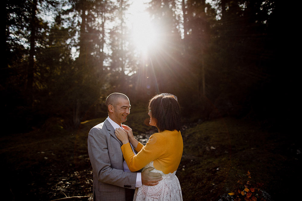 Matrimonio in Autunno Rustico e Vintage al Passo Giau :: Luxury wedding photography - 14