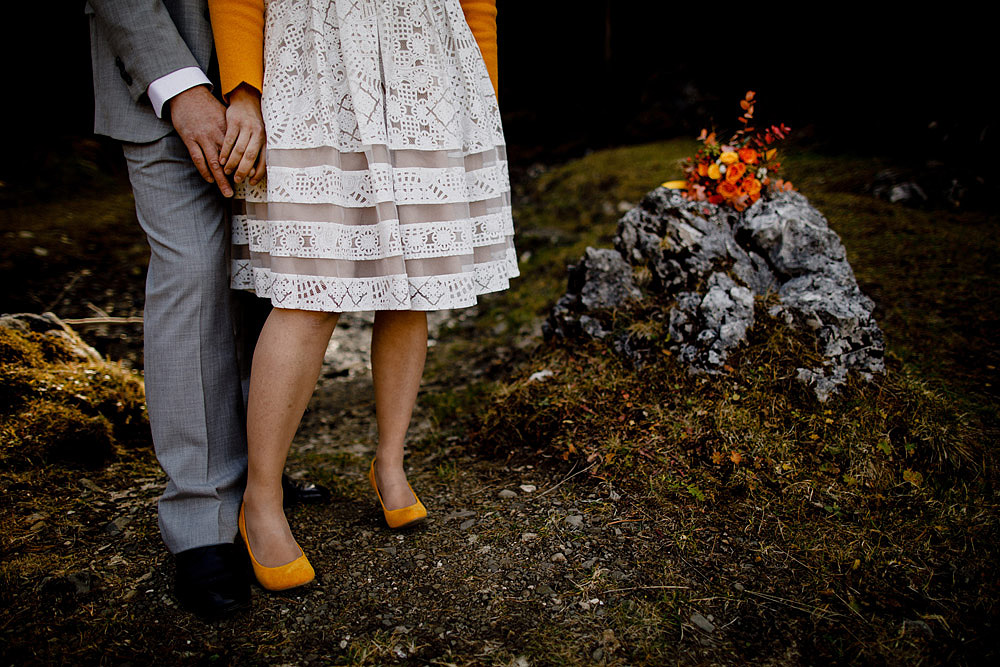 Matrimonio in Autunno Rustico e Vintage al Passo Giau :: Luxury wedding photography - 16