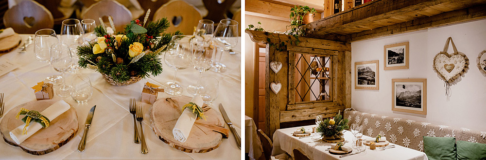 Matrimonio in Autunno Rustico e Vintage al Passo Giau :: Luxury wedding photography - 25