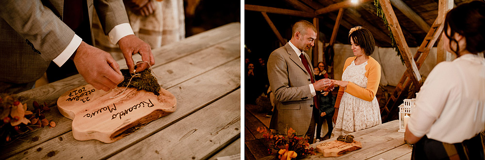Matrimonio in Autunno Rustico e Vintage al Passo Giau :: Luxury wedding photography - 33