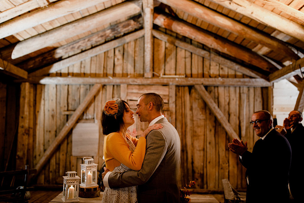 Wedding in Autumn Rustic and Vintage at Passo Giau :: Luxury wedding photography - 34