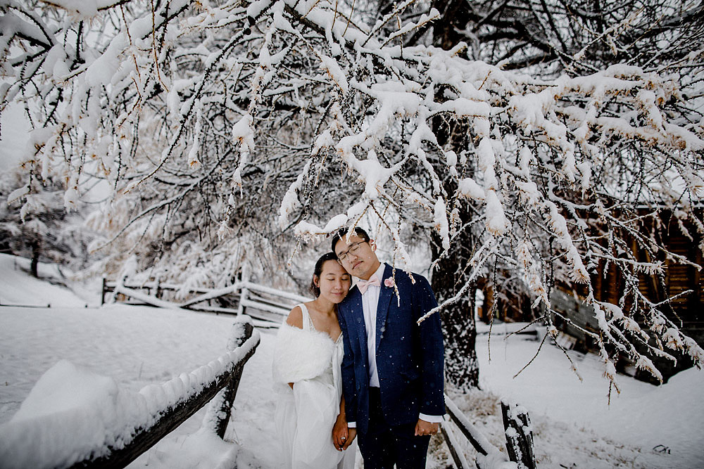 Engagement Session in the snow in Zermatt Switzerland :: Luxury wedding photography - 18
