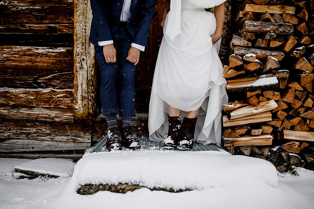 Engagement Session in the snow in Zermatt Switzerland :: Luxury wedding photography - 19