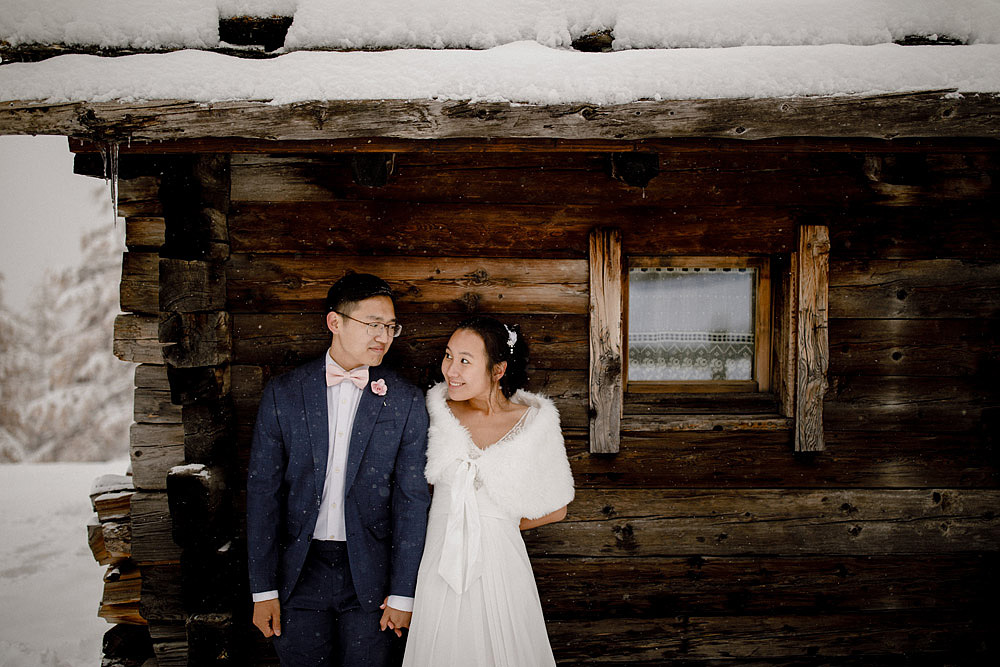 Engagement Session in the snow in Zermatt Switzerland :: Luxury wedding photography - 20