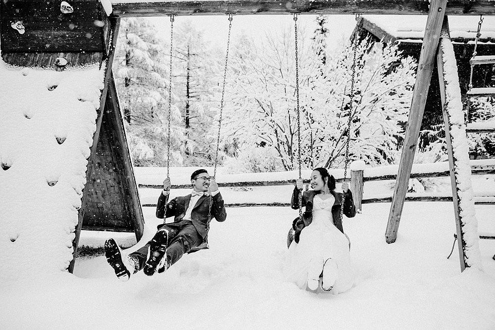 Engagement Session in the snow in Zermatt Switzerland :: Luxury wedding photography - 26