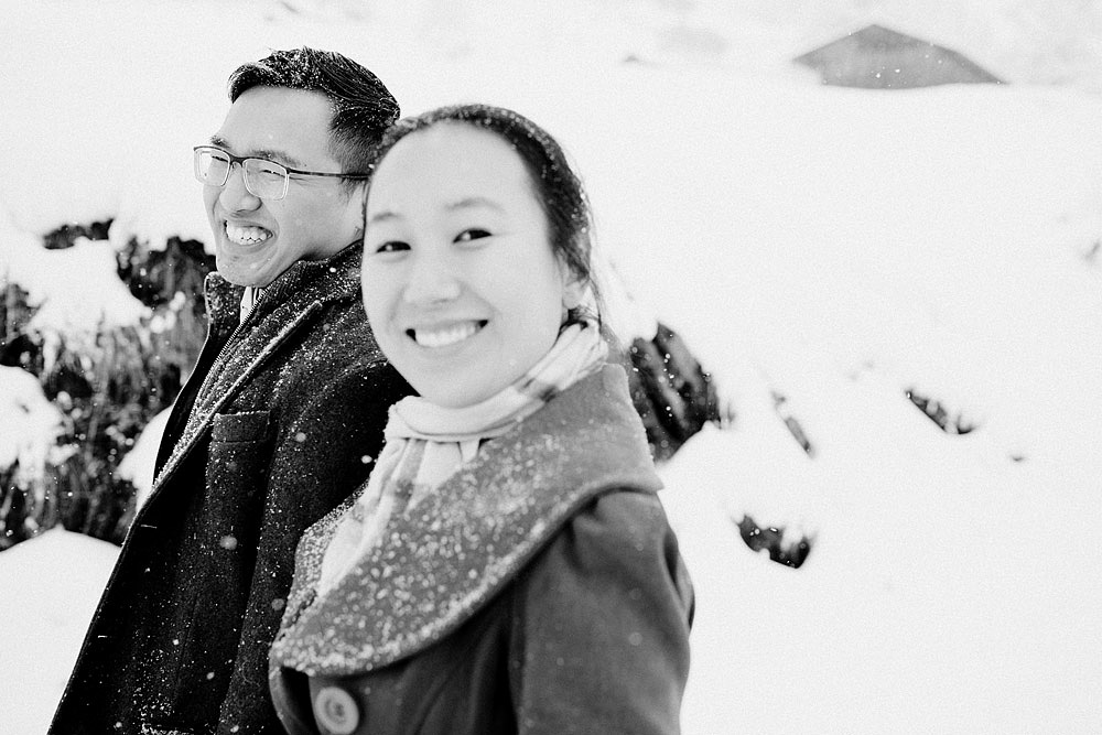 Engagement Session in the snow in Zermatt Switzerland :: Luxury wedding photography - 27