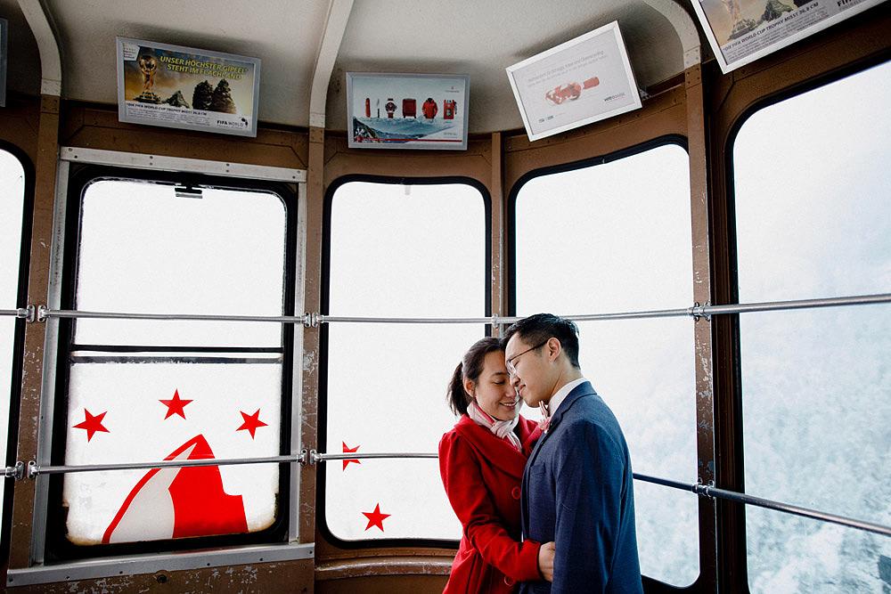 Engagement Session in the snow in Zermatt Switzerland :: Luxury wedding photography - 28